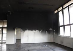 宝塚市役所の火災写真